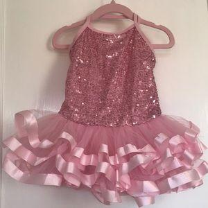 Pink sequin ballerina dress